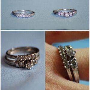 Jewelry - Diamond Bridal Set Size 6/7